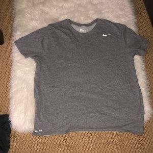 Grey NIKE dri-fit T-shirt